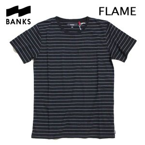 BANKS,バンクス/2016年SPRING/ S/S POCKET Tシャツ・半袖ポケットTシャツ/FLAME TEE-SHIRT・ATS0080/DIRTY BLACK・ブラック×グレーボーダー/S・M・Lサイズ|selfishsurf