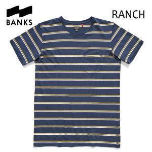 BANKS,バンクス/2016年SUMMER/ S/S POCKET Tシャツ・半袖ポケットTシャツ/RANCH TEE-SHIRT・ATS0087/DIRTY DENIM・ネイビー/S・M・Lサイズ|selfishsurf