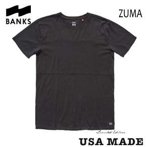 BANKS,バンクス/ S/S Tシャツ・半袖Tシャツ/ZUMA TEE-SHIRT・AWTS0092/DIRTY BLACK・ブラック/S・M・Lサイズ/LIMITED EDITION/MADE IN USA|selfishsurf