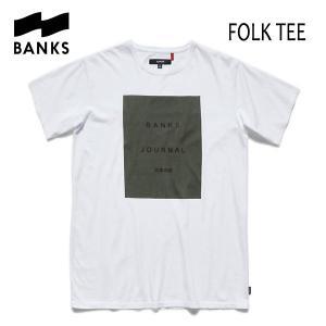 BANKS,バンクス/2017年SPRING/ S/S Tシャツ・半袖Tシャツ/FOLK TEE-SHIRT・ATS0134/OFF WHITE・オフホワイト/S・M・Lサイズ|selfishsurf
