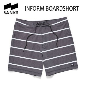 BANKS,バンクス/2017年SPRING/ボードショーツ・サーフトランクス/INFORM BOARDSHORT・BS0082/DIRTY BLACK・ブラック/28・30・32インチ selfishsurf