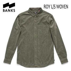 BANKS,バンクス/17FA/長袖コーデュロイシャツ・ロングスリーブシャツ/ROY L/S WOVEN SHIRT・ALS0050/COMBAT・グリーン selfishsurf