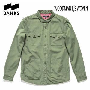 BANKS,バンクス/17FA/長袖シャツジャケット・ロングスリーブシャツ/WOODMAN L/S WOVEN SHIRT・ALS0052/LODEN GREEN・グリーン selfishsurf