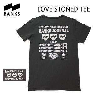 BANKS,バンクス/18SP/ S/S Tシャツ・半袖Tシャツ/LOVE STONED TEE-SHIRT・ATS0230/DIRTY BLACK・ウォッシュブラック/S・M・Lサイズ/メンズ/オーガニックコットン|selfishsurf