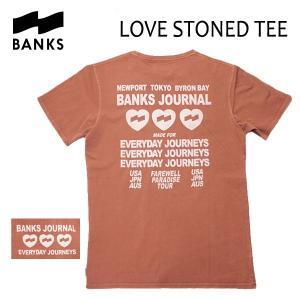 BANKS,バンクス/18SP/ S/S Tシャツ・半袖Tシャツ/LOVE STONED TEE-SHIRT・ATS0230/FADED PEACH・ピーチ/S・M・Lサイズ/メンズ/オーガニックコットン|selfishsurf