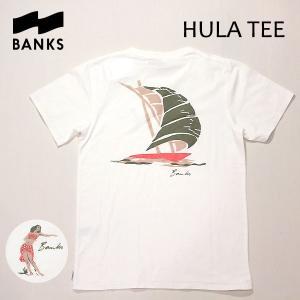 BANKS,バンクス/18SP/ S/S Tシャツ・半袖Tシャツ/HULA TEE-SHIRT・ATS0231/OFF WHITE・オフホワイト/S・M・Lサイズ/メンズ/オーガニックコットン|selfishsurf