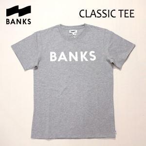 BANKS,バンクス/18SP/ S/S Tシャツ・半袖Tシャツ/CLASSIC TEE-SHIRT・ATS0233/HEATHER GREY・ヘザーグレー/S・M・Lサイズ/メンズ/オーガニックコットン/ロゴTEE|selfishsurf