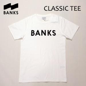 BANKS,バンクス/18SP/ S/S Tシャツ・半袖Tシャツ/CLASSIC TEE-SHIRT・ATS0233/OFF WHITE・オフホワイト/S・M・Lサイズ/メンズ/オーガニックコットン/ロゴTEE|selfishsurf
