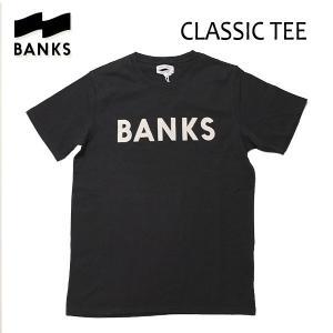 BANKS,バンクス/18SP/ S/S Tシャツ・半袖Tシャツ/CLASSIC TEE-SHIRT・ATS0233/DIRTY BLACK・ブラック/S・M・Lサイズ/メンズ/オーガニックコットン/ロゴTEE|selfishsurf