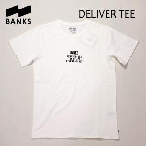 BANKS,バンクス/18SP/ S/S Tシャツ・半袖Tシャツ/DELIVER TEE-SHIRT・ATS0236/OFF WHITE・オフホワイト/S・M・Lサイズ/メンズ/オーガニックコットン|selfishsurf