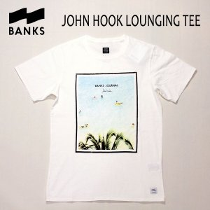BANKS,バンクス/18SP/ S/S Tシャツ・半袖Tシャツ/JOHN HOOK LOUNGING TEE-SHIRT・ATS0240/OFF WHITE・オフホワイト/S・M・Lサイズ/メンズ/フォトTee|selfishsurf