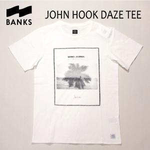 BANKS,バンクス/18SP/ S/S Tシャツ・半袖Tシャツ/JOHN HOOK DAZE TEE-SHIRT・ATS0241/OFF WHITE・オフホワイト/S・M・Lサイズ/メンズ/フォトTee|selfishsurf