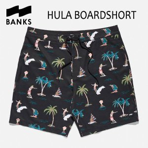 BANKS,バンクス/18SP/ボードショーツ・サーフトランクス/HULA BOARDSHORT・BS0112/DIRTY BLACK・ブラック/28・30・32インチ|selfishsurf