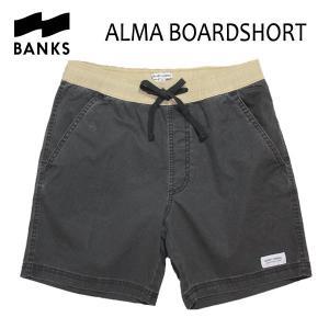 BANKS,バンクス/18SP/ボードショーツ・サーフトランクス/ALMA BOARDSHORT・BS0120/DIRTY BLACK・ブラック/28・30・32インチ|selfishsurf