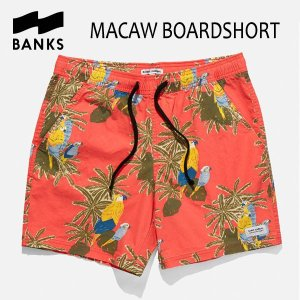 BANKS,バンクス/18SP/ボードショーツ・サーフトランクス/MACAW BOARDSHORT・BS0121/CORAL RED・コーラルレッド/28・30・32インチ|selfishsurf