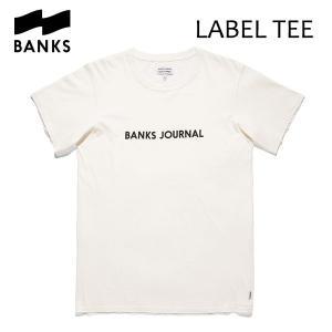BANKS,バンクス/18SU/ S/S Tシャツ・半袖Tシャツ/LABEL TEE-SHIRT・ATS0252/OFF WHITE・オフホワイト/S・M・Lサイズ/メンズ/オーガニックコットン/ロゴTEE|selfishsurf