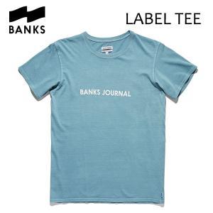 BANKS,バンクス/18SU/ S/S Tシャツ・半袖Tシャツ/LABEL TEE-SHIRT・ATS0252/HEATHER CLOUD BLUE・ブルー/メンズ/オーガニックコットン/ロゴTEE|selfishsurf