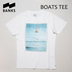 BANKS,バンクス/18SU/ S/S Tシャツ・半袖Tシャツ/BOATS TEE-SHIRT・ATS0262/OFF WHITE・オフホワイト/S・M・Lサイズ/メンズ/フォトTee|selfishsurf