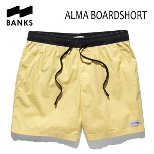 BANKS,バンクス/18SU/ボードショーツ・サーフトランクス/ALMA BOARDSHORT・BS0130/VINTAGE YELLOW・イエロー/28・30インチ/メンズ|selfishsurf