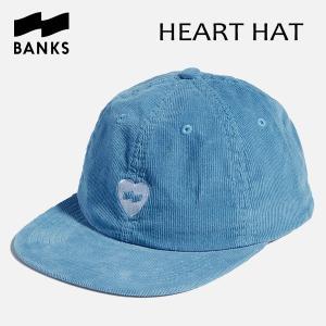 BANKS,バンクス/18SU/CAP・キャップ/HEART HAT・HA0056/GLACIER BLUE・ブルー/UNISEX/フリーサイズ/コーデュロイ|selfishsurf