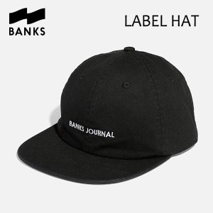 BANKS,バンクス/CAP・キャップ/LABEL HAT・HA0085/DIRTY BLACK・ブラック/UNISEX/フリーサイズ/ロゴ|selfishsurf