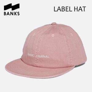BANKS,バンクス/18SU/CAP・キャップ/LABEL HAT・HA0071/ASH ROSE・ピンク/UNISEX/フリーサイズ|selfishsurf