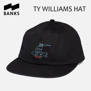BANKS,バンクス/18SU/CAP・キャップ/TY WILLIAMS HAT・HA0078/DIRTY BLACK・ブラック/UNISEX/フリーサイズ|selfishsurf
