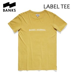 BANKS,バンクス/18FA/ S/S Tシャツ・半袖Tシャツ/LABEL TEE-SHIRT・ATS0281/LEMON・レモン/メンズ/オーガニックコットン/ロゴTEE|selfishsurf