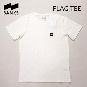 BANKS,バンクス/18FA・HO/ S/S Tシャツ・半袖Tシャツ/FLAG TEE-SHIRT・ATS0288・ATS0320/OFF WHITE・オフホワイト/S・Mサイズ/メンズ/オーガニックコットン|selfishsurf