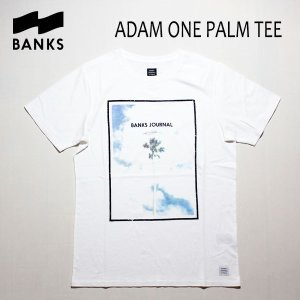 BANKS,バンクス/18FA/ S/S Tシャツ・半袖Tシャツ/ADAM ONE PALM TEE-SHIRT・ATS0295/OFF WHITE・オフホワイト/S・M・Lサイズ/メンズ/フォトTee|selfishsurf