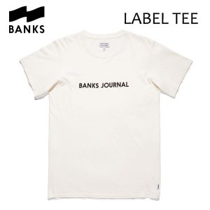 BANKS,バンクス/18FA/ S/S Tシャツ・半袖Tシャツ/LABEL STAPLE TEE-SHIRT・ATSLS01/OFF WHITE・オフホワイト/メンズ/オーガニックコットン/ロゴTEE|selfishsurf