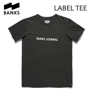 BANKS,バンクス/18FA/ S/S Tシャツ・半袖Tシャツ/LABEL STAPLE TEE-SHIRT・ATSLS01/DIRTY BLACK・ウォッシュブラック/メンズ/オーガニックコットン/ロゴTEE|selfishsurf