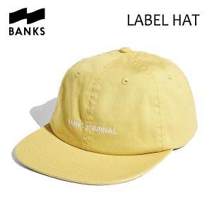 BANKS,バンクス/18FA/CAP・キャップ/LABEL HAT・HA0082/LEMON・レモン/UNISEX/フリーサイズ|selfishsurf
