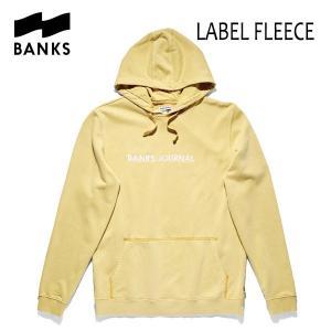 BANKS,バンクス/18FA/プルオーバーパーカー/LABEL FLEECE PULLOVER・AFL0133/LEMON・イエロー/ロゴ/メンズ|selfishsurf