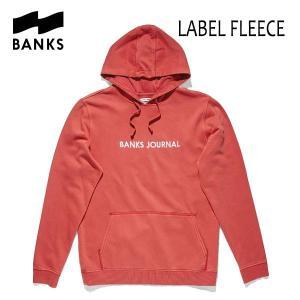 BANKS,バンクス/18FA/プルオーバーパーカー/LABEL FLEECE PULLOVER・AFL0133/VINTAGE RED・レッド/ロゴ/メンズ|selfishsurf
