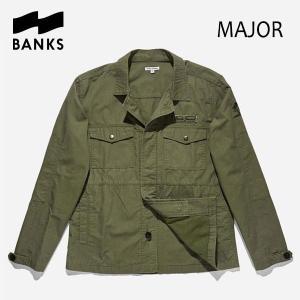 BANKS,バンクス/18FA/長袖シャツジャケット・ロングスリーブシャツ/MAJOR L/S WOVEN SHIRT JACKET・AJT0035/FOREST・グリーン|selfishsurf