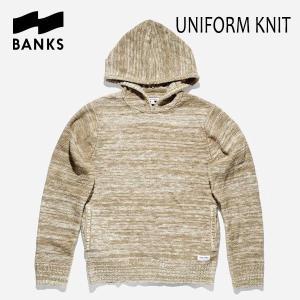 BANKS,バンクス/18FA/PULLOVER KNIT・プルオーバーニット/UNIFORM KNIT・AKN0039/OLIVE・オリーブ/メンズ|selfishsurf