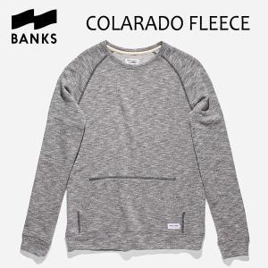 BANKS,バンクス/18HO/クルーネック・スエット/COLARADO FLEECE・AFL0152/DIRTY DENIM・杢ネイビー/シンプル/裏毛/メンズ|selfishsurf