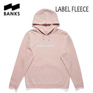 BANKS,バンクス/18HO/プルオーバーパーカー/LABEL FLEECE PULLOVER・AFL0156/ROSE SMOKE・ピンク/ロゴ/メンズ|selfishsurf