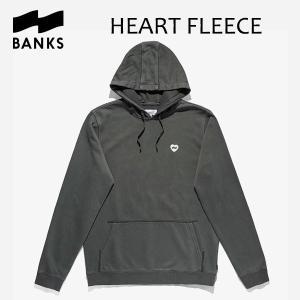 BANKS,バンクス/18HO/プルオーバーパーカー/HEART FLEECE PULLOVER・AFLSM34/DIRTY BLACK・ブラック/ロゴ/メンズ|selfishsurf
