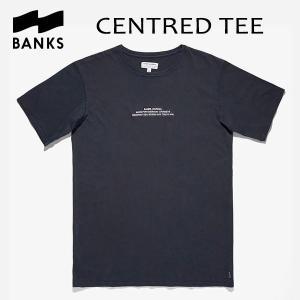 BANKS,バンクス/18HO/ S/S Tシャツ・半袖Tシャツ/CENTRED TEE-SHIRT・ATS0308/DIRTY DENIM・ネイビー/メンズ/オーガニックコットン/ロゴTEE/シンプル/サーフ|selfishsurf