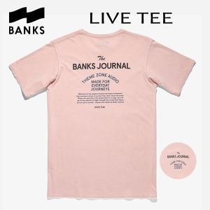 BANKS,バンクス/18HO/ S/S Tシャツ・半袖Tシャツ/LIVE TEE-SHIRT・ATS0309/ROSE SMOKE・ピンク/メンズ/オーガニックコットン/ロゴTEE/サーフ|selfishsurf