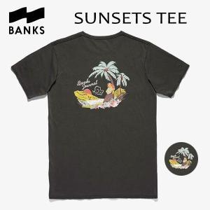 BANKS,バンクス/18HO/ S/S Tシャツ・半袖Tシャツ/SUNSETS TEE-SHIRT・ATS0311/DIRTY BLACK・ブラック/メンズ/オーガニックコットン/アートTEE/サーフ/|selfishsurf