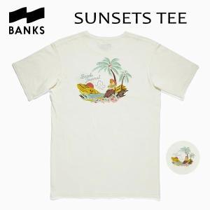 BANKS,バンクス/18HO/ S/S Tシャツ・半袖Tシャツ/SUNSETS TEE-SHIRT・ATS0311/OFF WHITE・オフホワイト/メンズ/オーガニックコットン/アートTEE/サーフ/|selfishsurf
