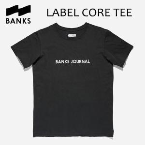 BANKS,バンクス/18HO/ S/S Tシャツ・半袖Tシャツ/LABEL CORE TEE-SHIRT・ATS0313/DIRTY BLACK・ブラック/メンズ/オーガニックコットン/ロゴTEE|selfishsurf