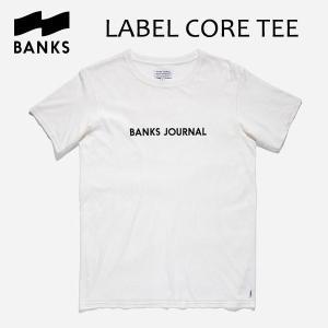 BANKS,バンクス/18HO/ S/S Tシャツ・半袖Tシャツ/LABEL CORE TEE-SHIRT・ATS0313/OFF WHITE・オフホワイト/メンズ/オーガニックコットン/ロゴTEE|selfishsurf