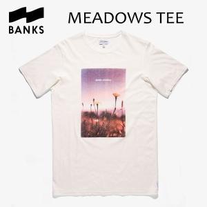 BANKS,バンクス/18HO/ S/S Tシャツ・半袖Tシャツ/MEADOWS TEE-SHIRT・ATS0314/OFF WHITE・オフホワイト/メンズ/オーガニックコットン/フォトTEE/サーフ|selfishsurf