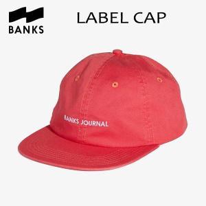 BANKS,バンクス/18HO/CAP・キャップ/LABEL HAT・HA0085/WASHED RED・レッド/UNISEX/フリーサイズ|selfishsurf