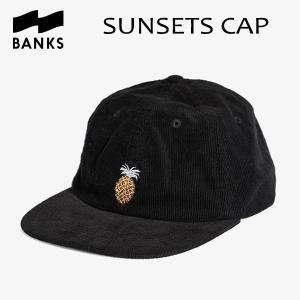 BANKS,バンクス/18HO/CAP・キャップ/SUNSETS HAT・HA0086/DIRTY BLACK・ブラック/UNISEX/フリーサイズ/コーデュロイ|selfishsurf