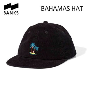 BANKS,バンクス/19SP/CAP・キャップ/BAHAMAS HAT・HA0092/DIRTY BLACK・ブラック/UNISEX/フリーサイズ/コーデュロイ/パームツリー|selfishsurf